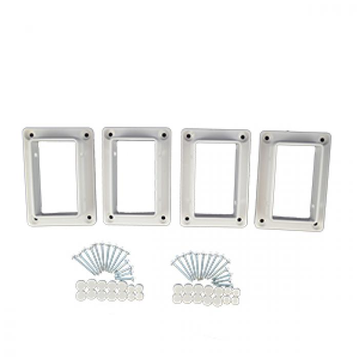 "Classic Brackets - 2"" x 3.5"" 1-Piece Straight Kit"
