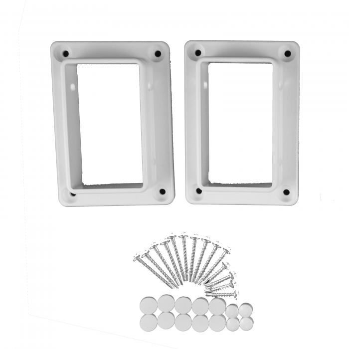 "Classic Brackets - 2"" x 3.5"" 1-Piece Straight Set"