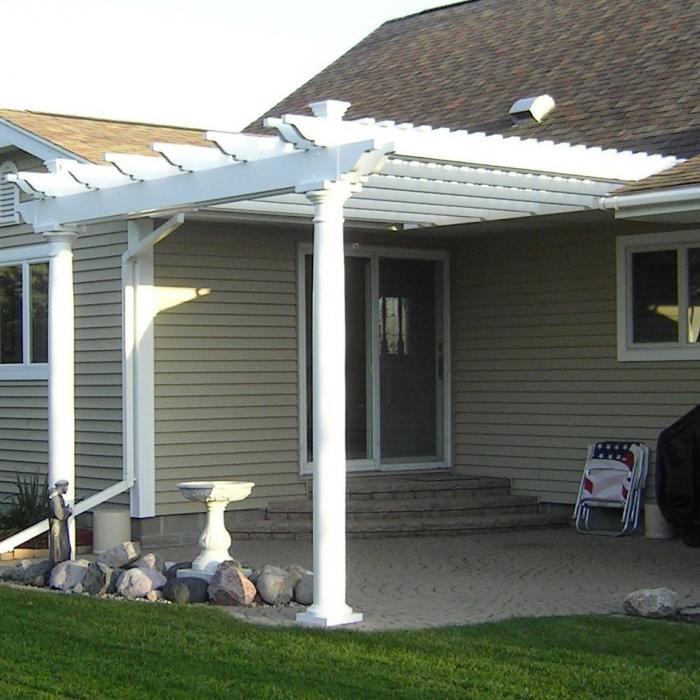 Attached Pergolas - Bradenton (with round posts)