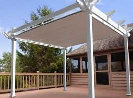 12' x 12' Pacific Freestanding Pergola with Shade