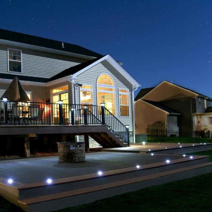 Low Voltage Deck and Rail Lighting - Flush Deck Light