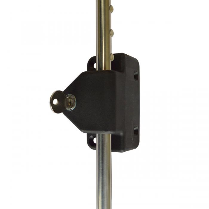 Outdoor Gate Accessories - Key Lockable Stainless Steel Drop Rod