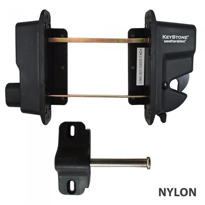 Gate Latches   Keystone Advantage   Two Sided Lockable Latch ...