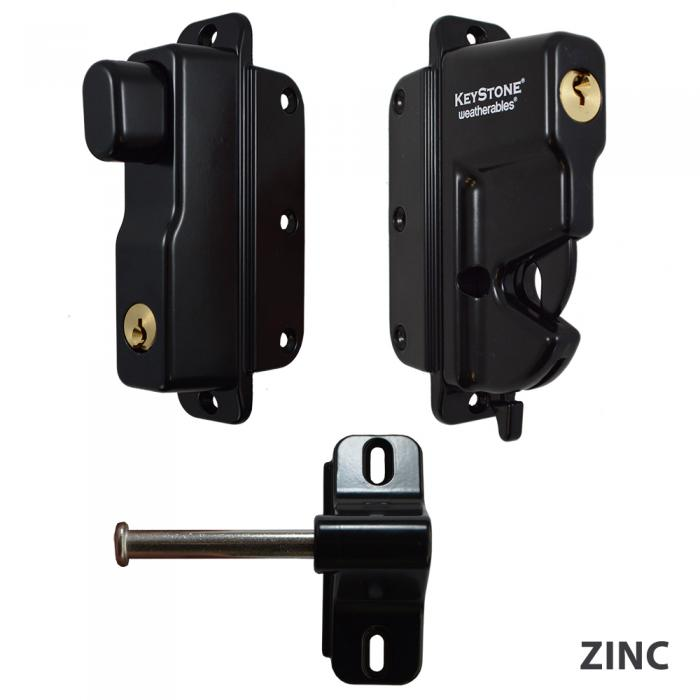 Gate Latches - Keystone Advantage - Two Sided Lockable Latch
