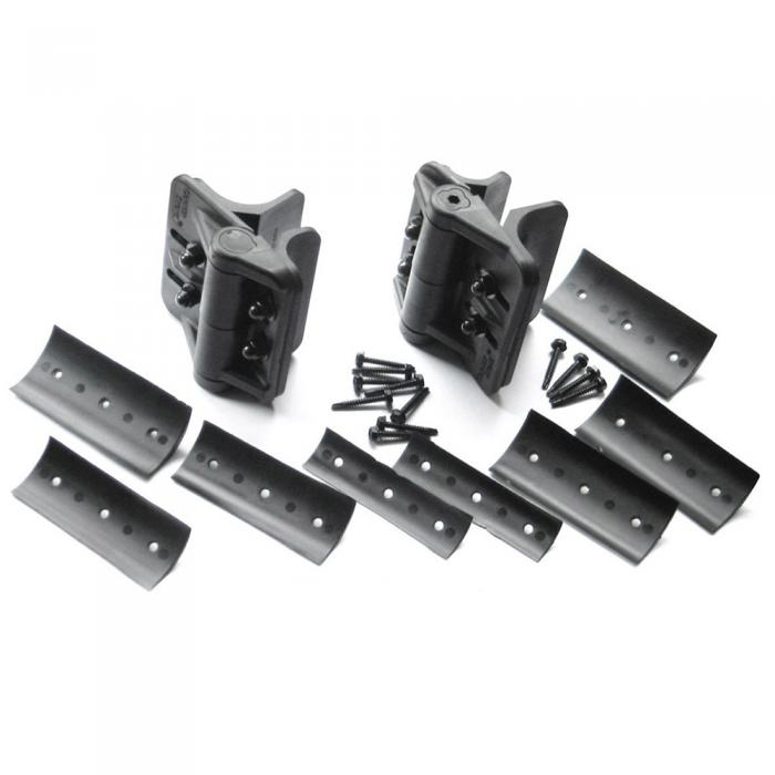 Gate Hinges - Cornerstone Self-Closing Adjustable Hinges For Round Posts
