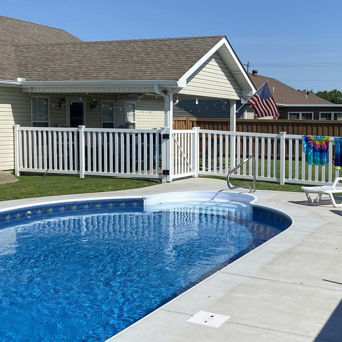 4 Captiva Vinyl Pool Fence Weatherables
