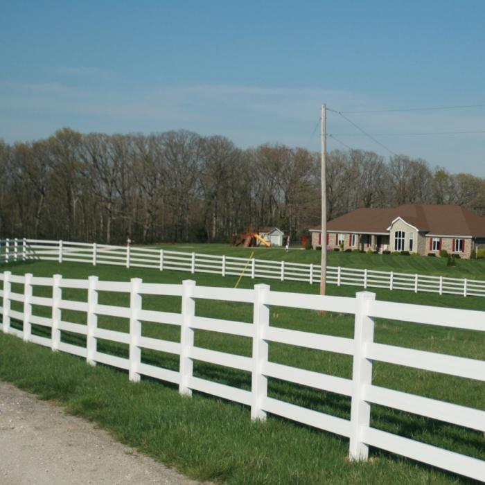 Vinyl Horse Fence - 4 Rail Horse Fence