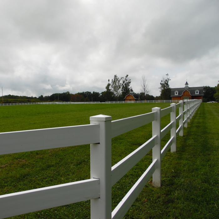 Vinyl Horse Fence - 3 Rail Horse Fence