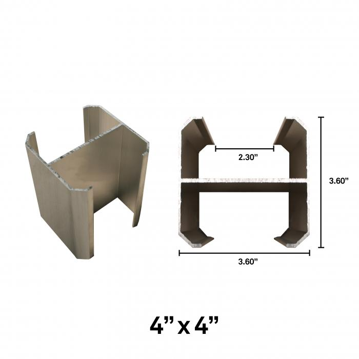 Aluminum Gate Post Insert Gate Hardware Vinyl Fencing Railing