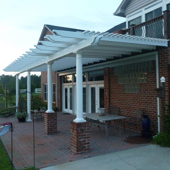 Attached Pergolas - Bradenton (with round tapered posts)