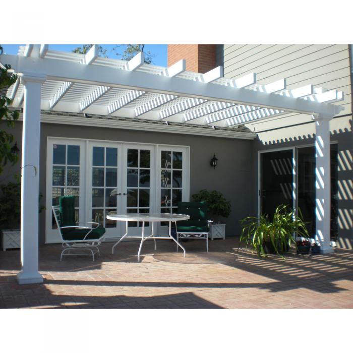 Attached Vinyl Pergola with 8 x 8 Posts The Bradenton
