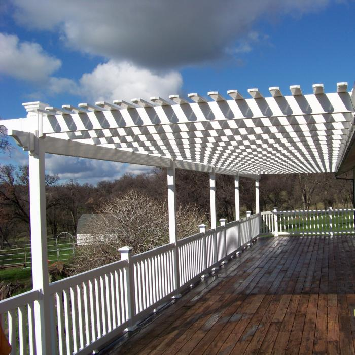 The Weston Attached Pergola