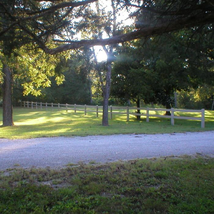 Vinyl Horse Fence - 2 Rail Horse Fence