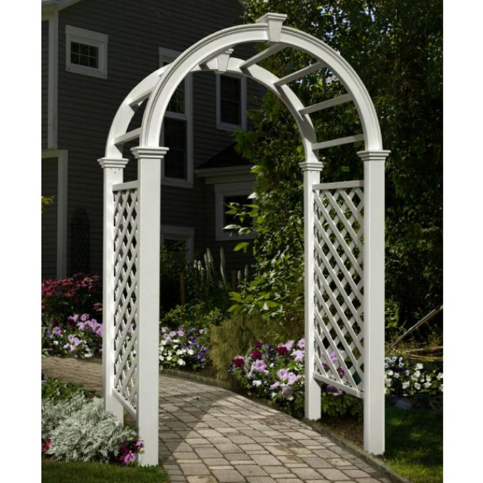 Arched Top Arbors - Livingston Arbor