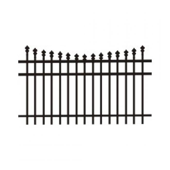 Marietta Aluminum Fence - 4' High