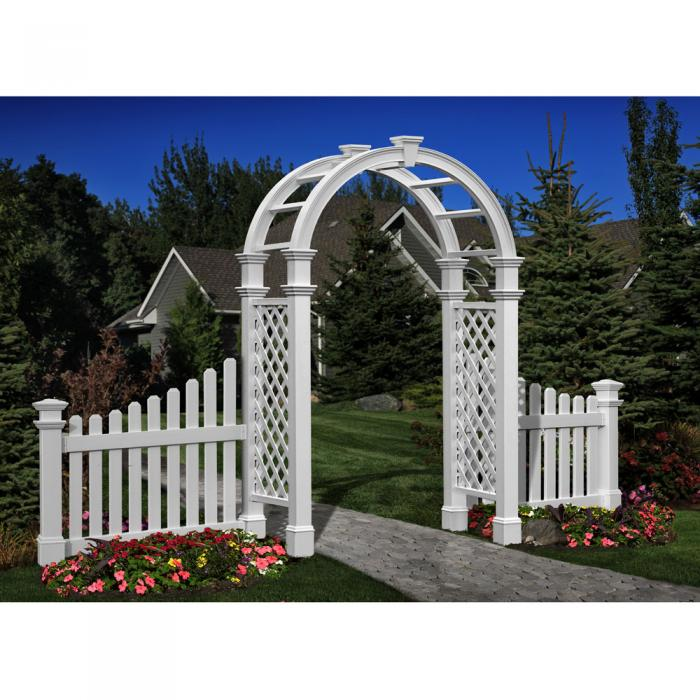 Arched Top Arbors - Nantucket Legacy Arbor with Trim