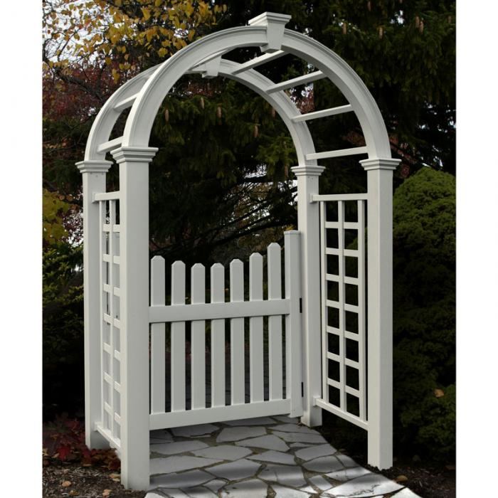 Arched Top Arbors - Nantucket Deluxe Arbor
