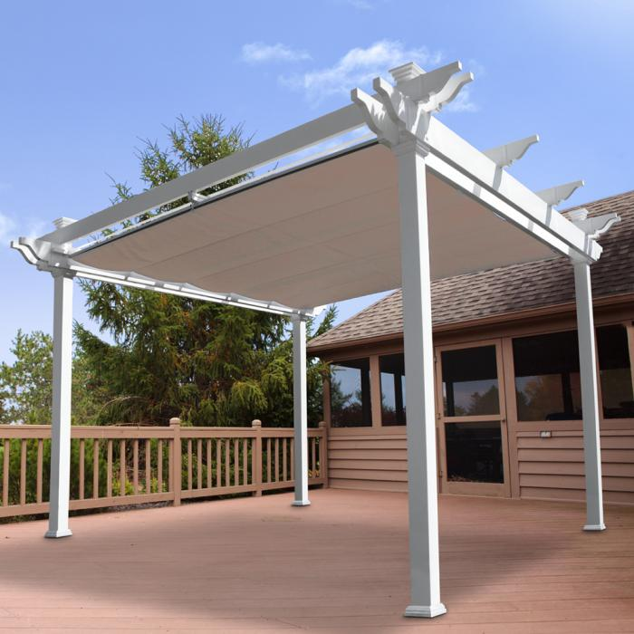 Pergolas/Patio Covers - Atlantic Pergola with Shade Canopy
