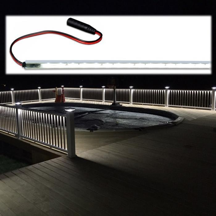 Low Voltage Deck and Rail Lighting - Under Rail Lighting Strip