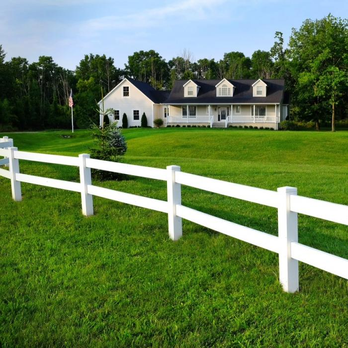 2 Rail Horse Fence Recycled Vinyl Fencing Fencing For