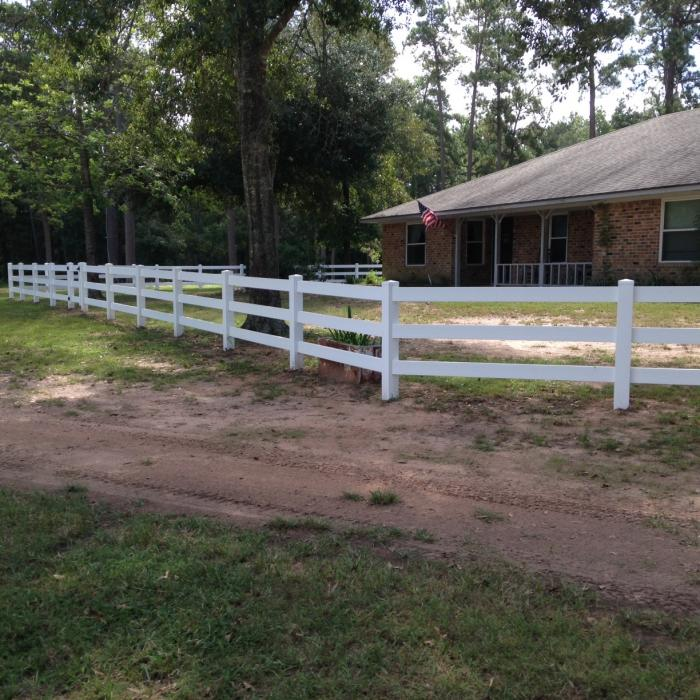3 Rail Vinyl Horse Fence Horse Fence For Sale