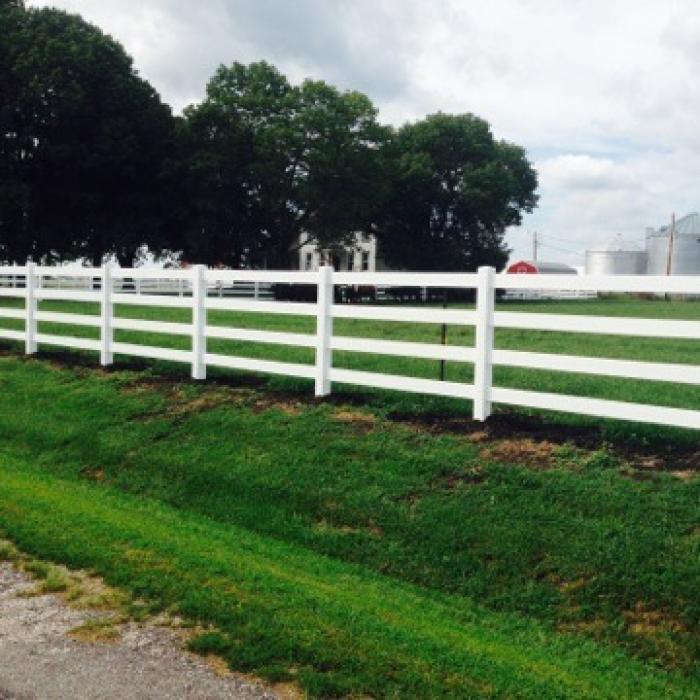 4 Rail Vinyl Fence Vinyl Horse Fence Weatherables
