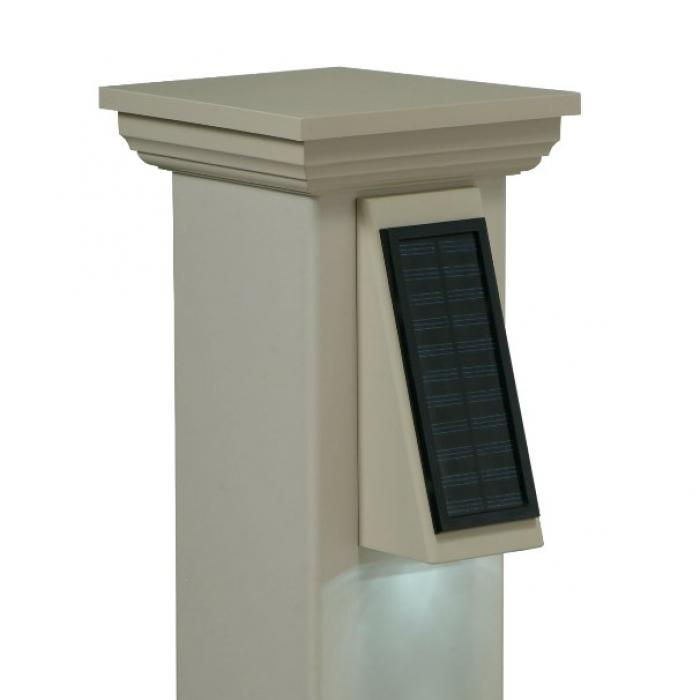 Galaxy Solar Wedge Light : Solar LED Deck Lights : Weatherables
