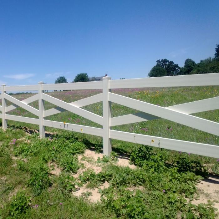 Crossbuck Fence Pvc Horse Fencing Horse Vinyl Fencing