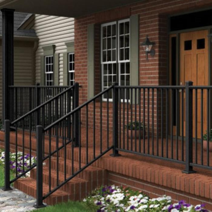 36 Quot High Aluminum Railing The Fairlawn Weatherables