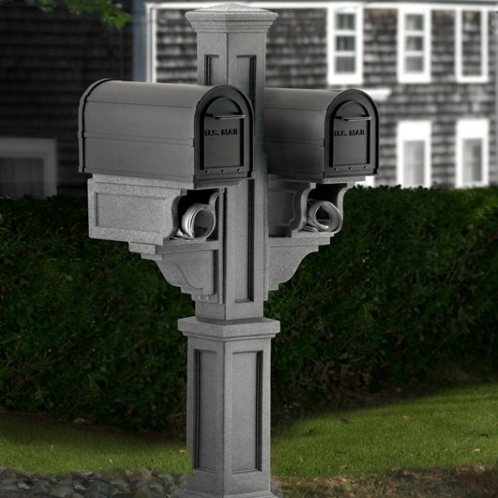 Rockport Double Mailbox Post Multi Family Mailbox Post