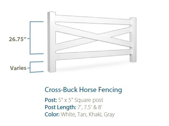 Cross Buck Vinyl Horse Fence
